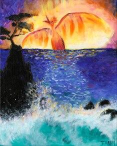 Firebird Over Lone Cypress